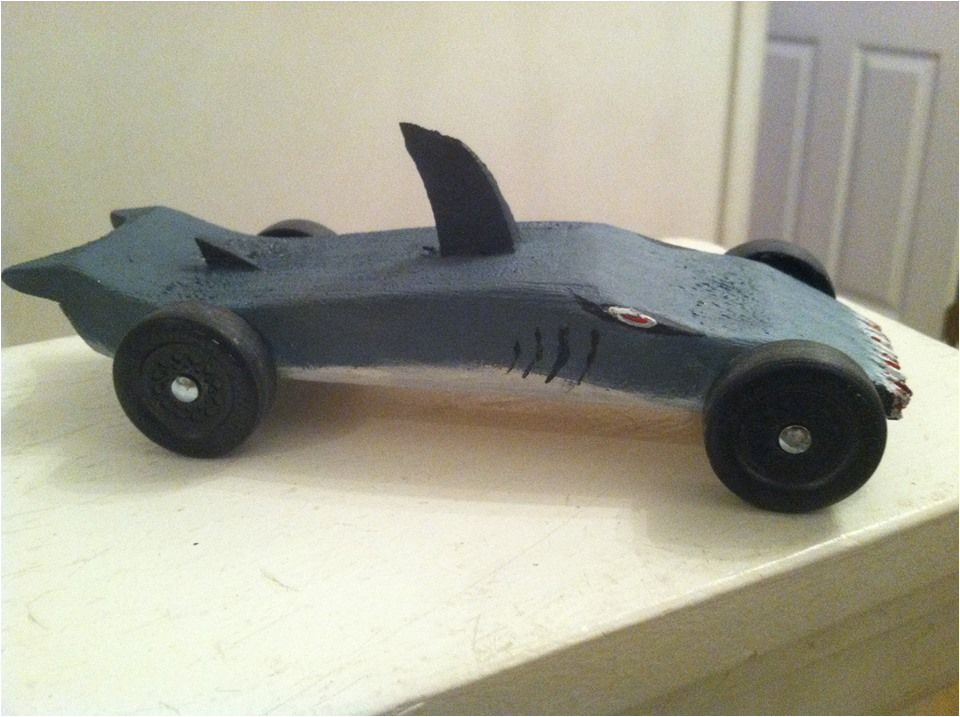 Pinewood Derby Shark Template Our Shark Pinewood Derby Car Projects I Couldn 39 T Avoid