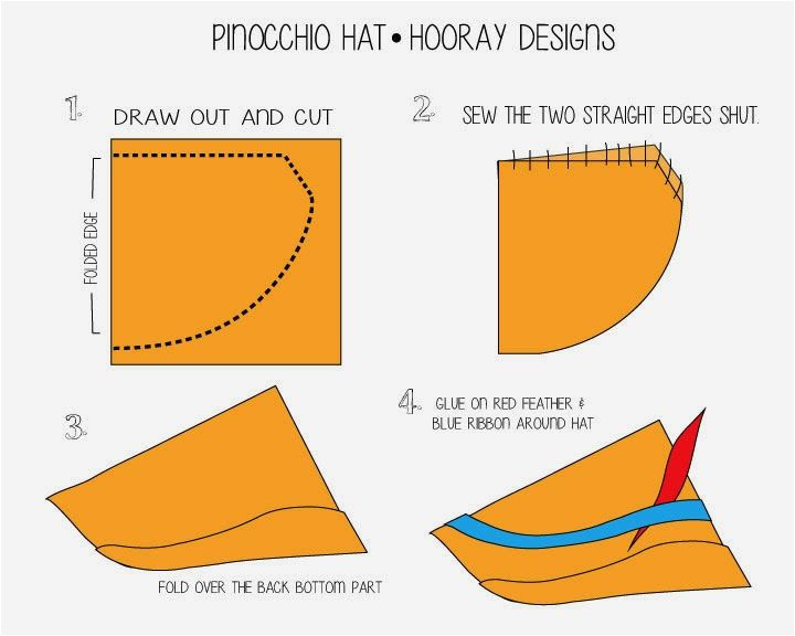 Pinocchio Hat Template Hooray Pinocchio the Blue Fairy Pinocchio Costume