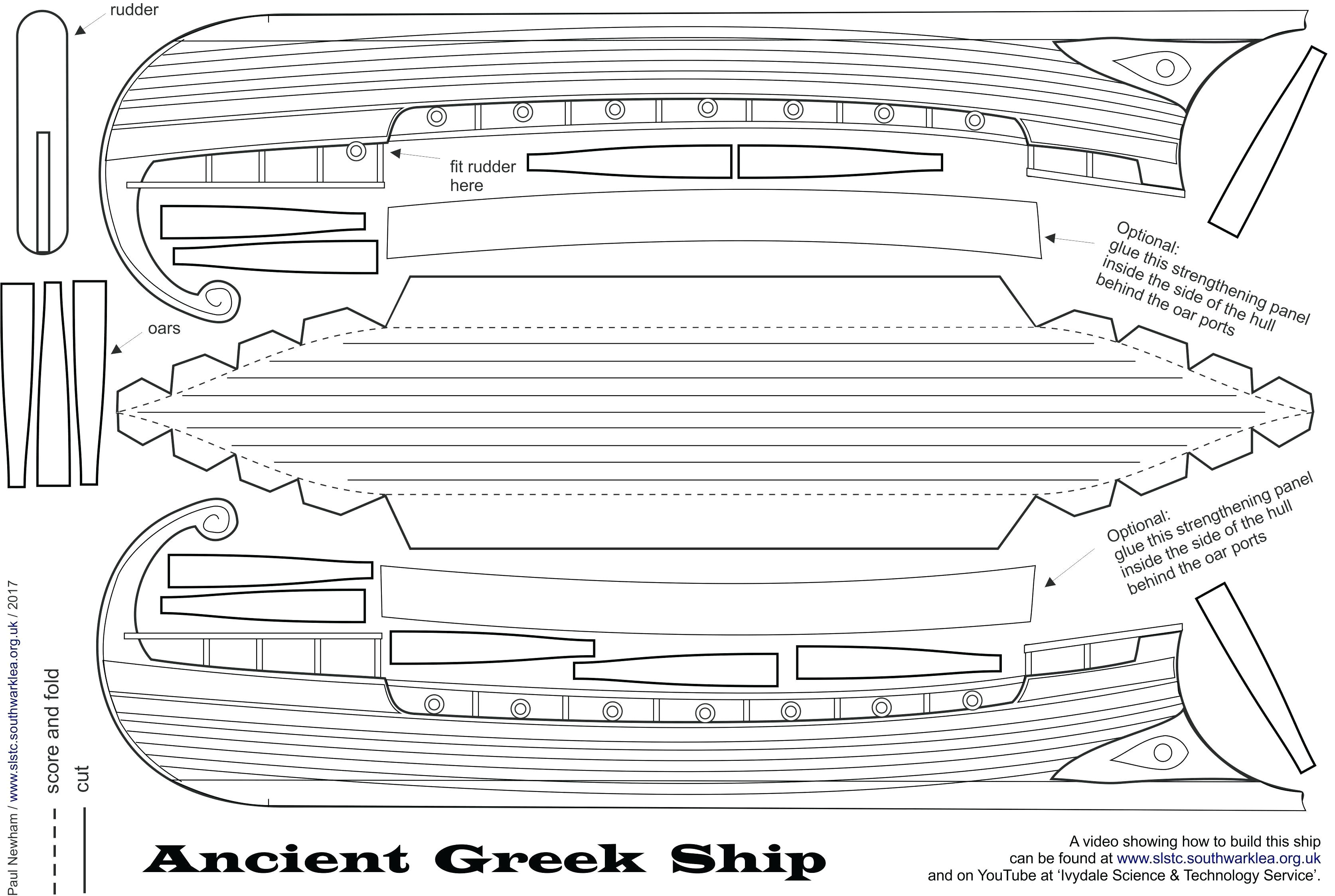 pirate ship template