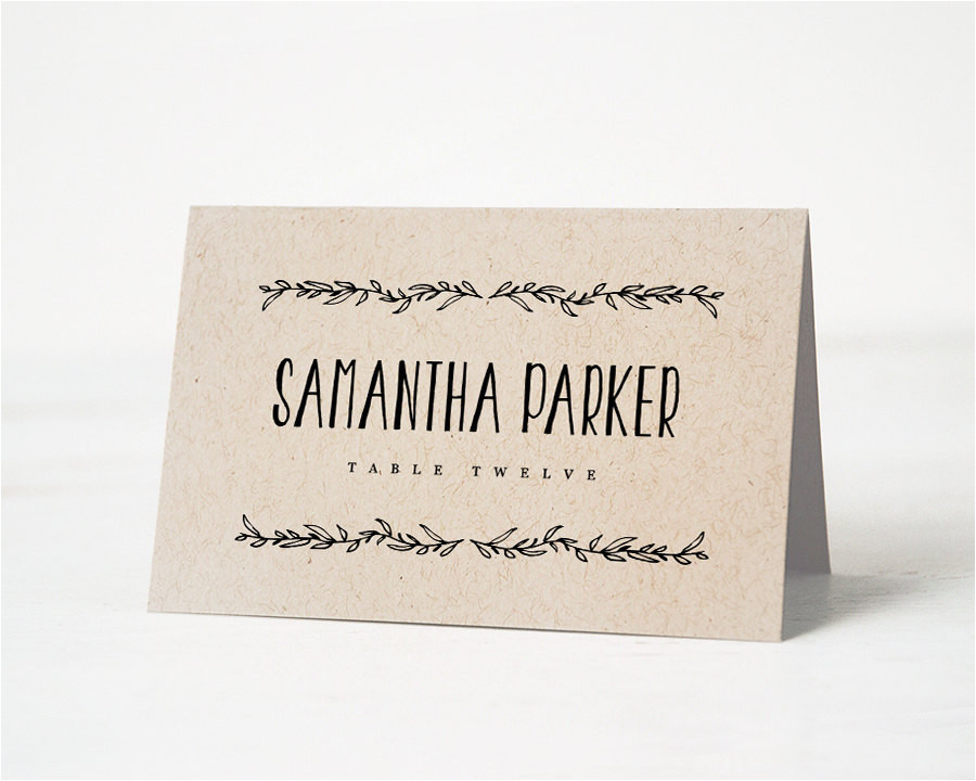 printable place card template wedding