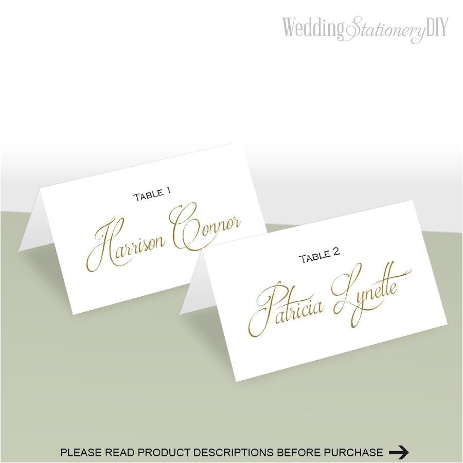 simple elegance place card template