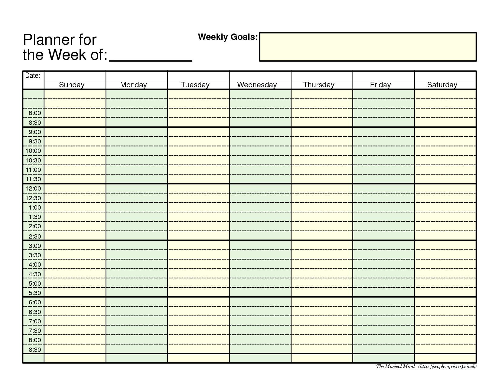 weeklyplannertemplate net