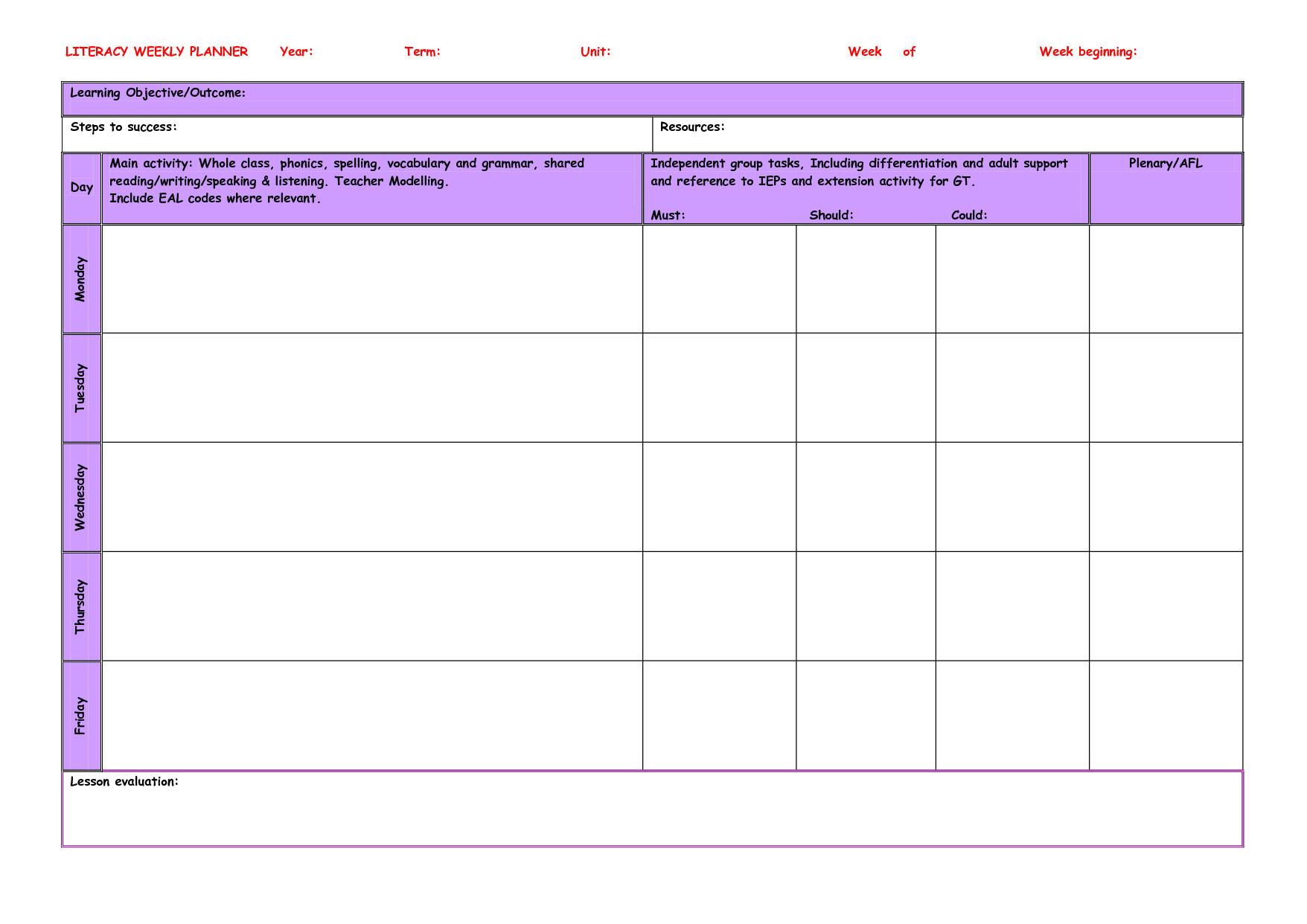 teacher planner template 981