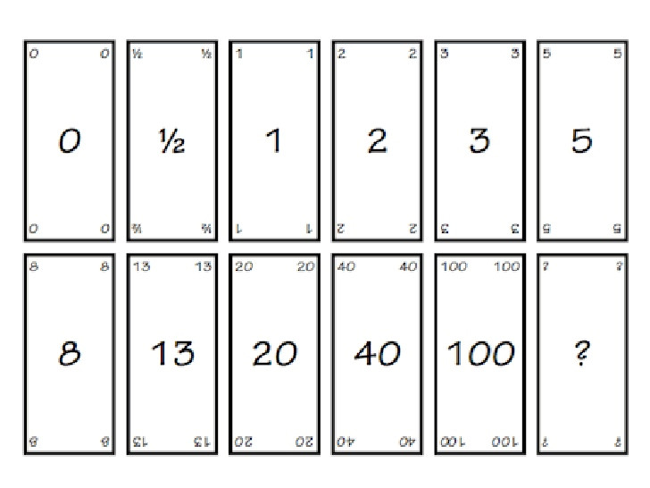 Planning Poker Cards Template Agile Nature