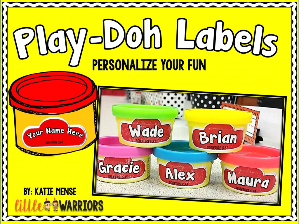 personalized editable play doh labels freebie