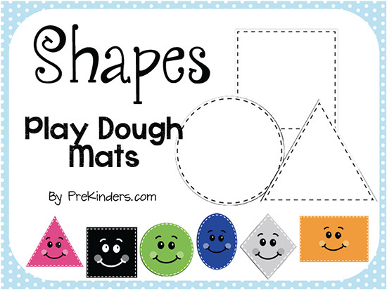 Playdough Templates Shape Play Dough Mats Prekinders
