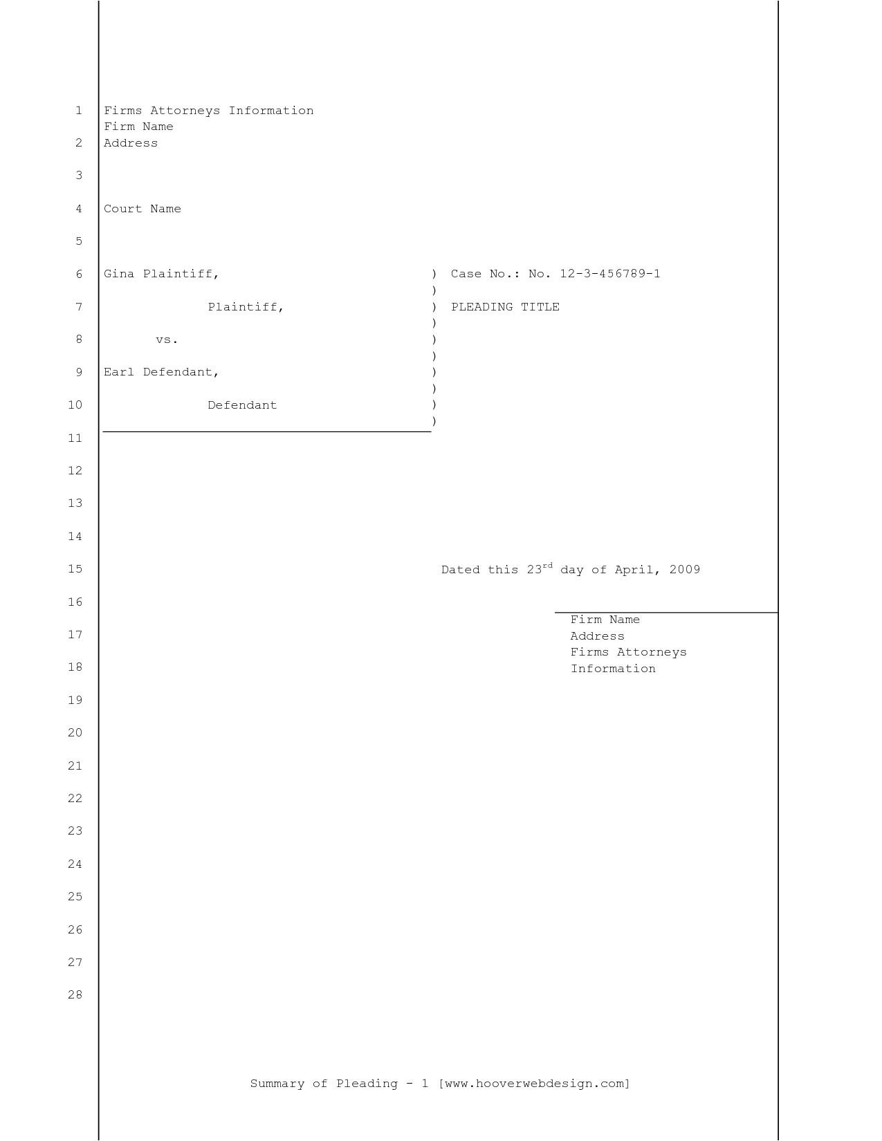 post california pleading paper superior court 403441