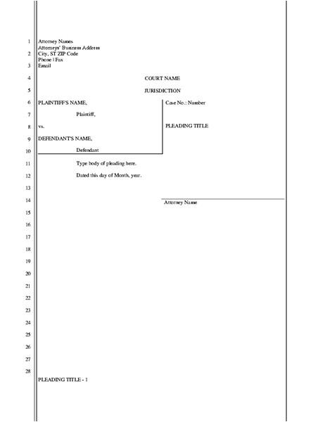 legal pleading paper 28 lines tm03992040