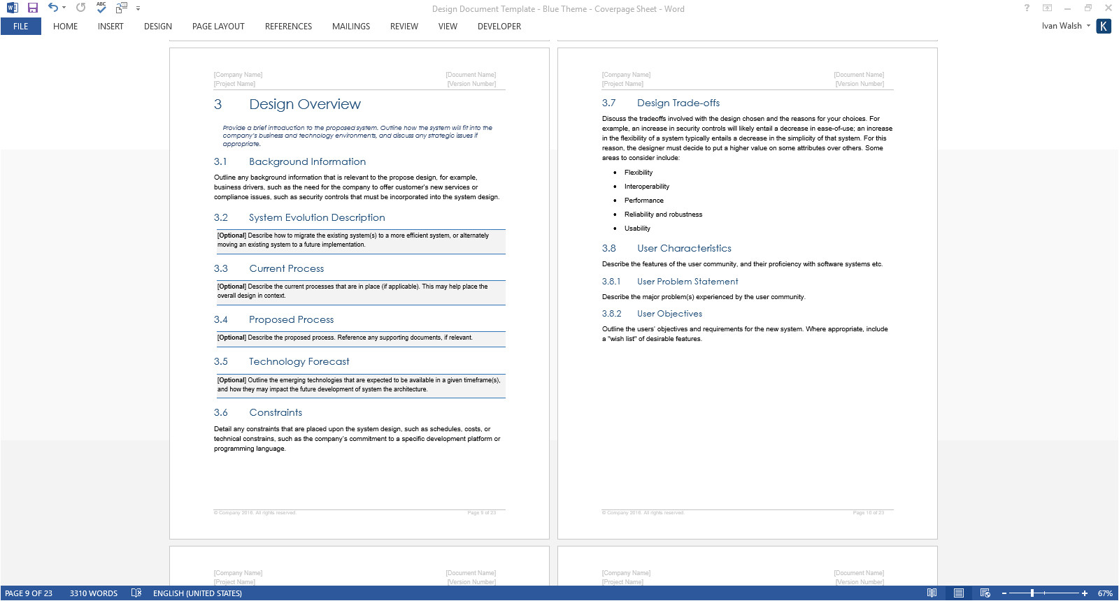 Plos One Word Template Design Document Template