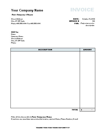 Plos One Word Template Invoice Model Word Free Printable Invoice
