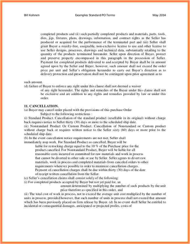 po terms and conditions template  williamsonga