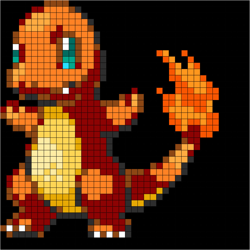 Pokemon Perler Bead Template Pokemon Charmander Fuse Bead Perler Pattern Perler Bead