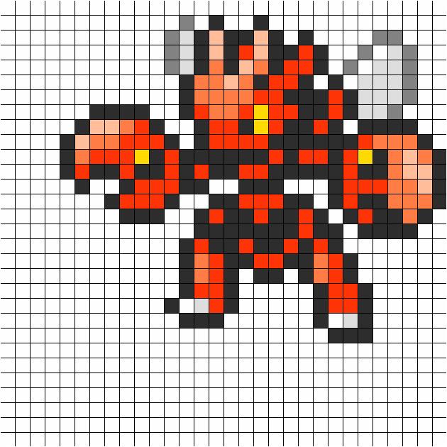 scizor pokemon sprite perler 5853