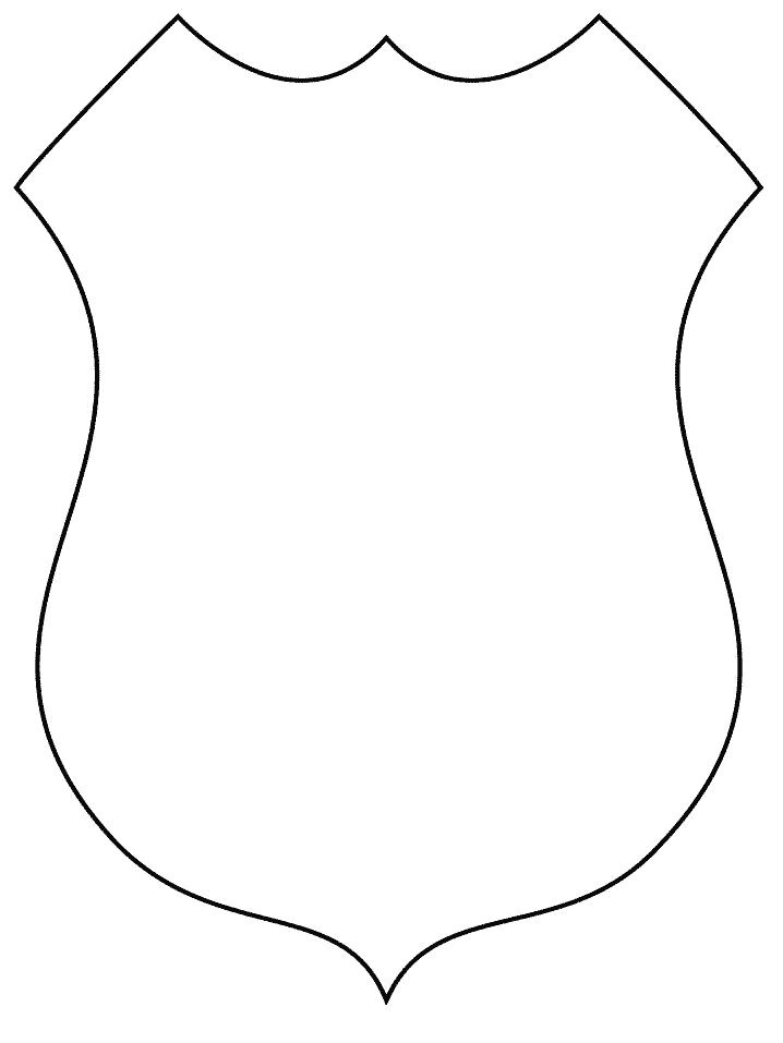 Police Badge Template for Preschool Design Your Own Sheriff Police Badge Applique