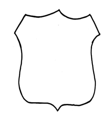 Police Badge Template for Preschool Police Officer Crafts Police and Police Badges On Pinterest