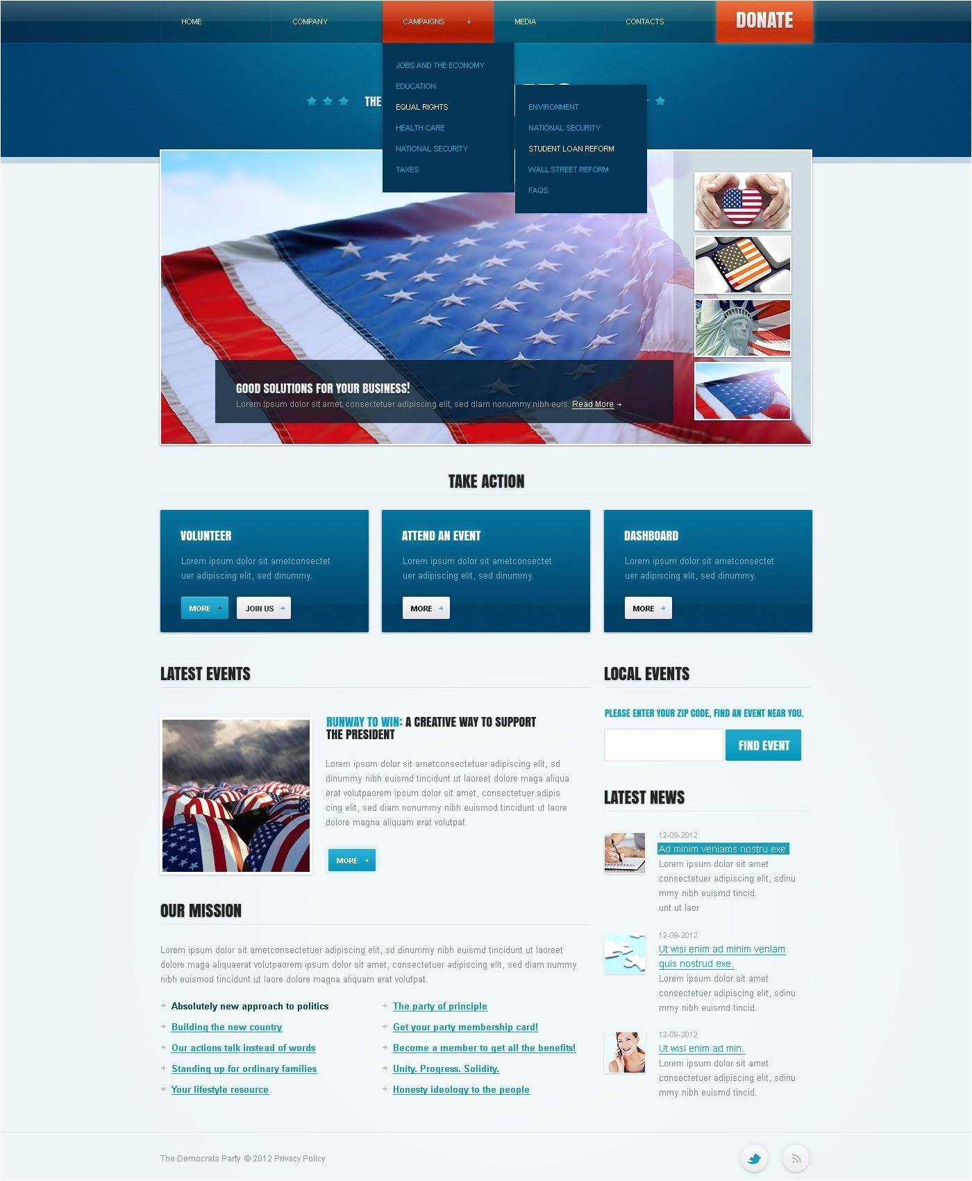 political newsletter template