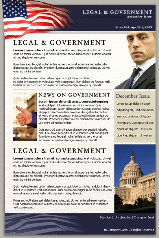 Political Newsletter Template Political Newsletter Template Best Business Template