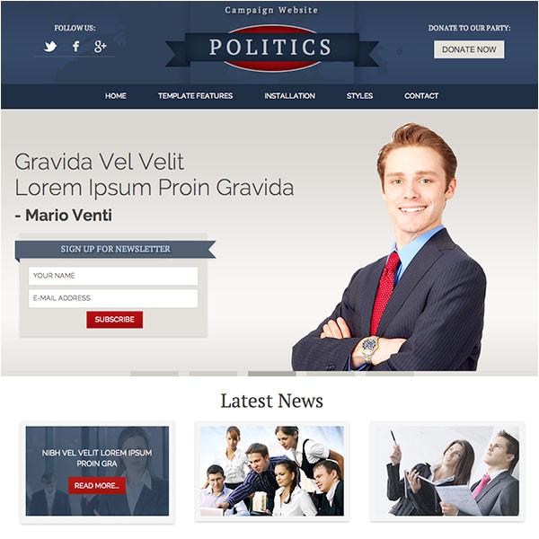politics hot responsive joomla template