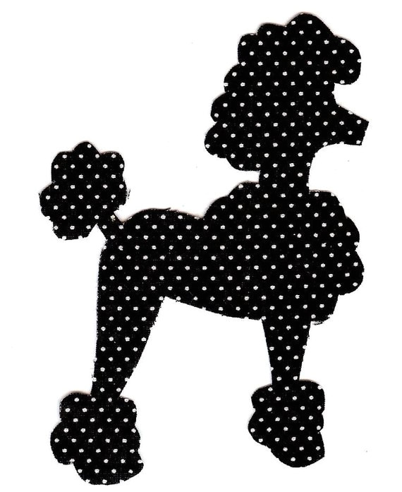 iron on fabric poodle applique diy