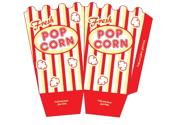 sample popcorn box