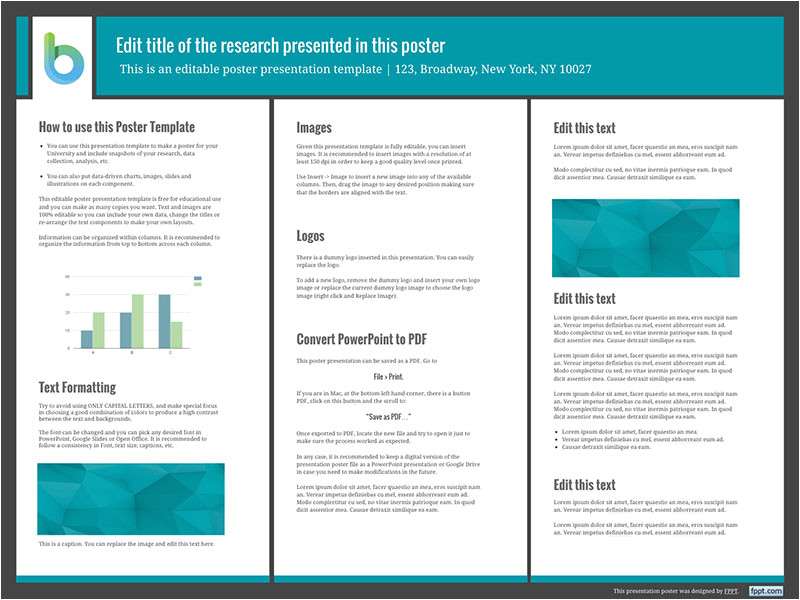 presentation poster templates