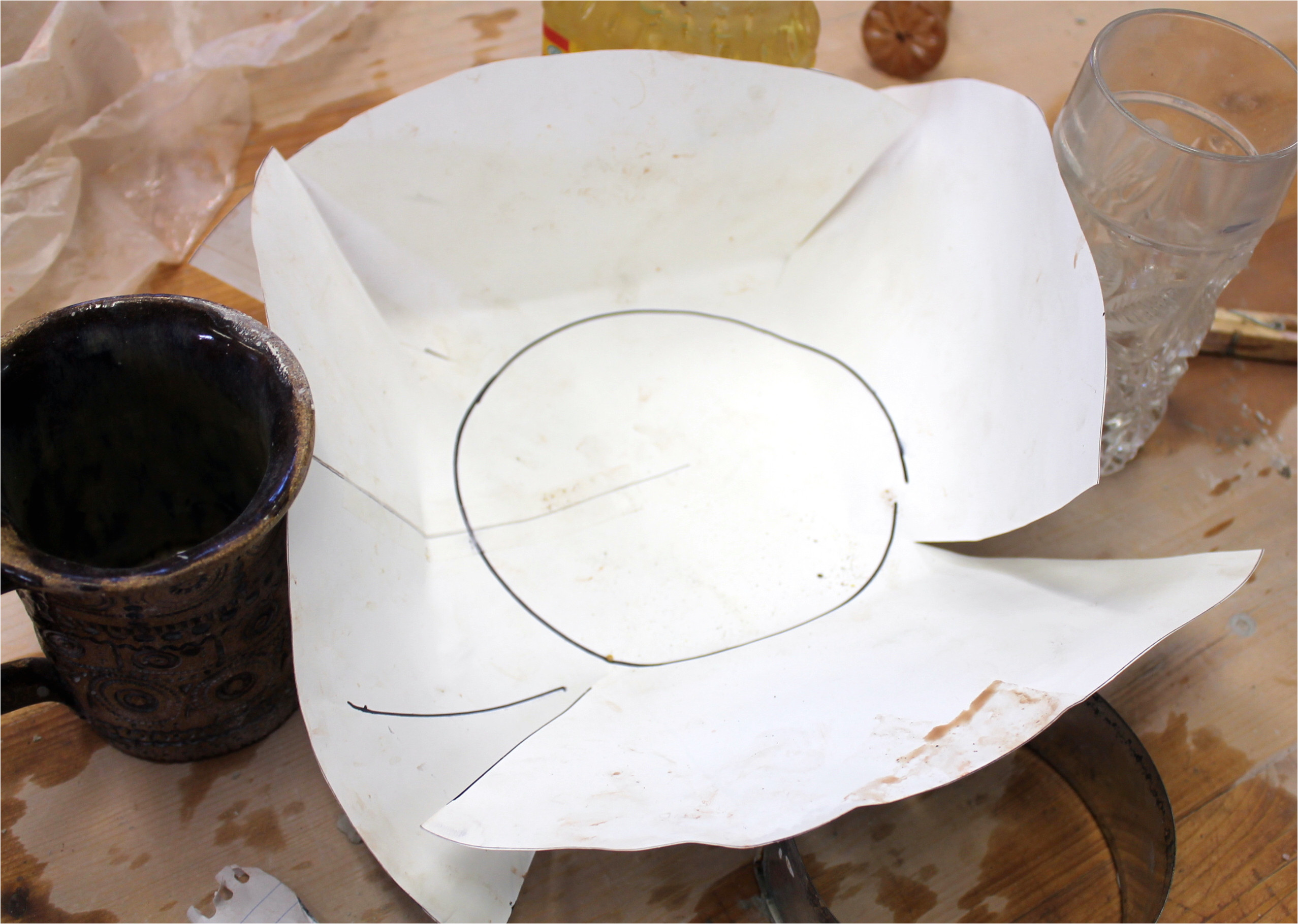 Pottery Templates Free Day 274 Slab Pottery Notch Cut Bowls Be Creative Mary