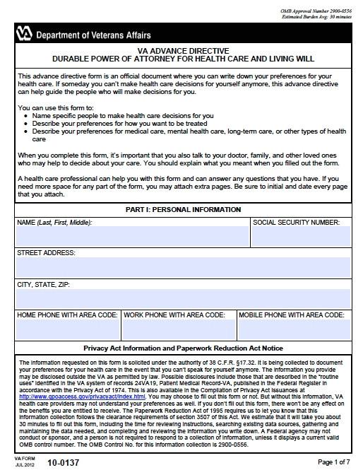 advance directive health care