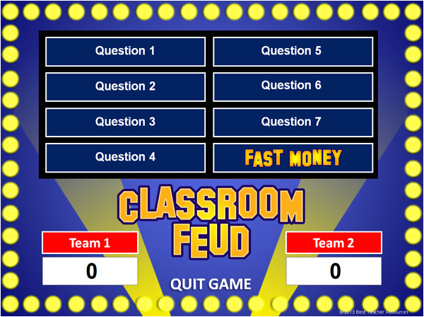 family feud powerpoint template classroom feud