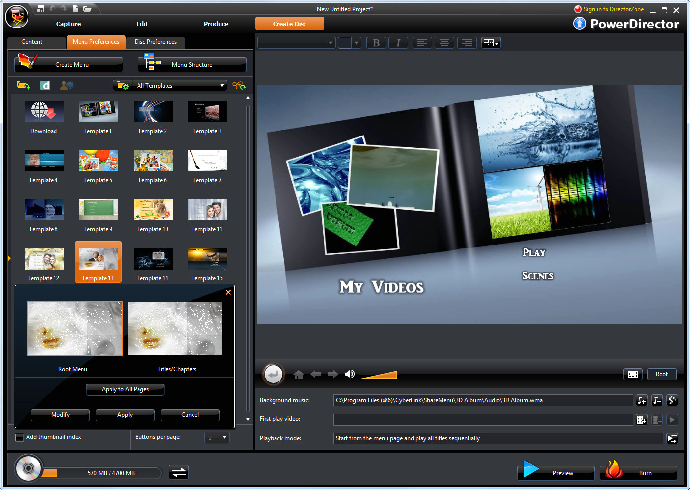 Powerdirector Menu Templates Cyberlink V Nero Media Authoring Suites the Register