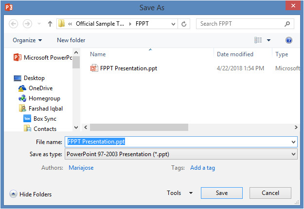 difference ppt pptx file formats