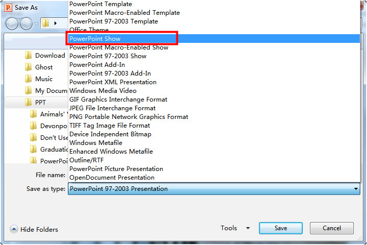 Powerpoint Template File Extension How to Convert Pps File to Ppt format Powerpoint E