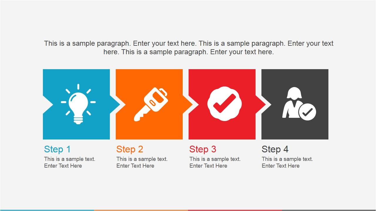 Powerpoint Template for Photo Slideshow 4 Icons In A Row Powerpoint Slide Slidemodel