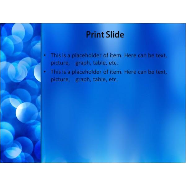 blue snowflakes powerpoint template free n0067