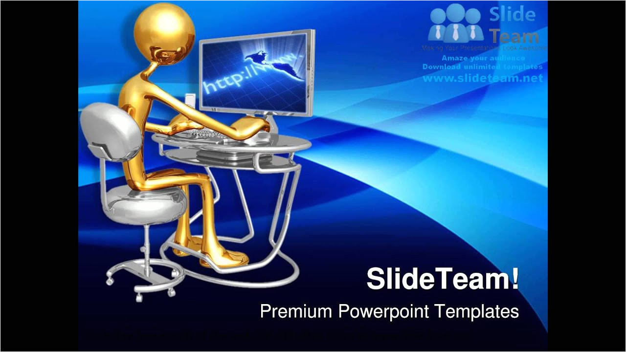 Powerpoint Templates Computer theme Work Station Monitor Computer Powerpoint Templates themes