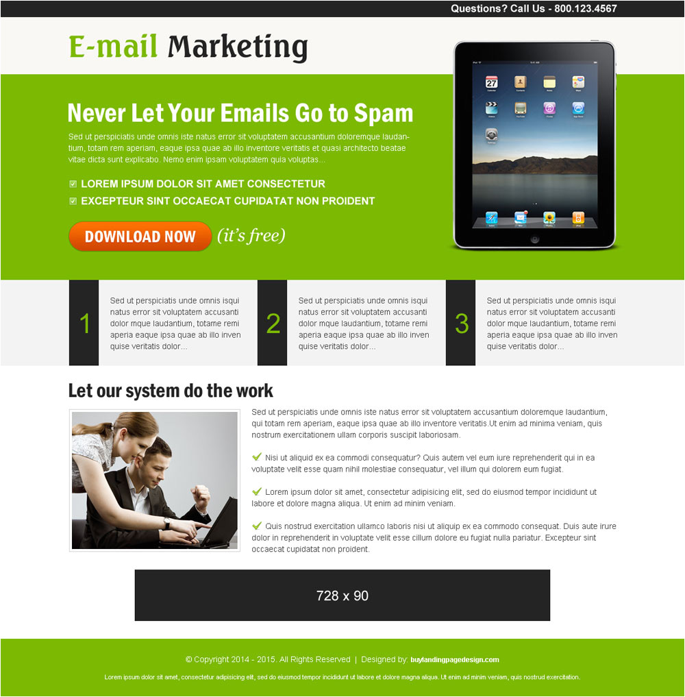 Ppc Landing Page Template Email Marketing Ppc Landing Page 001 Pay Per Click