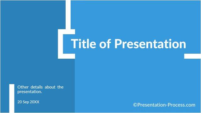 flat design powerpoint title slide