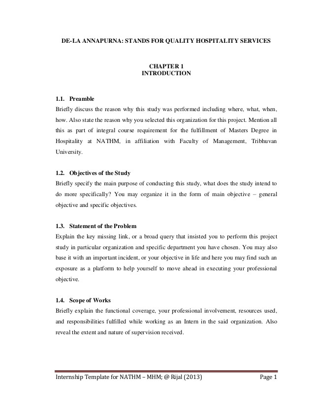 Preamble Template Nathm Internship