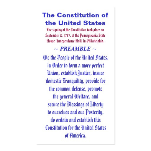Preamble Template the Constitution Of the United States Preamble Business