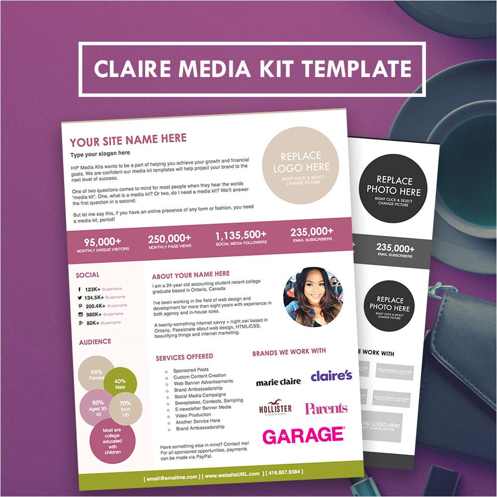 Press Pack Template Blogger Media Kit Press Kit Template Hipmediakits
