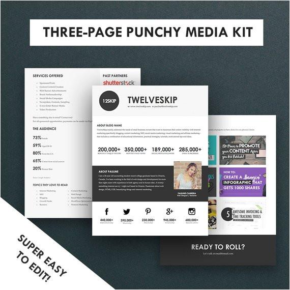 minimalist media kit template press kit