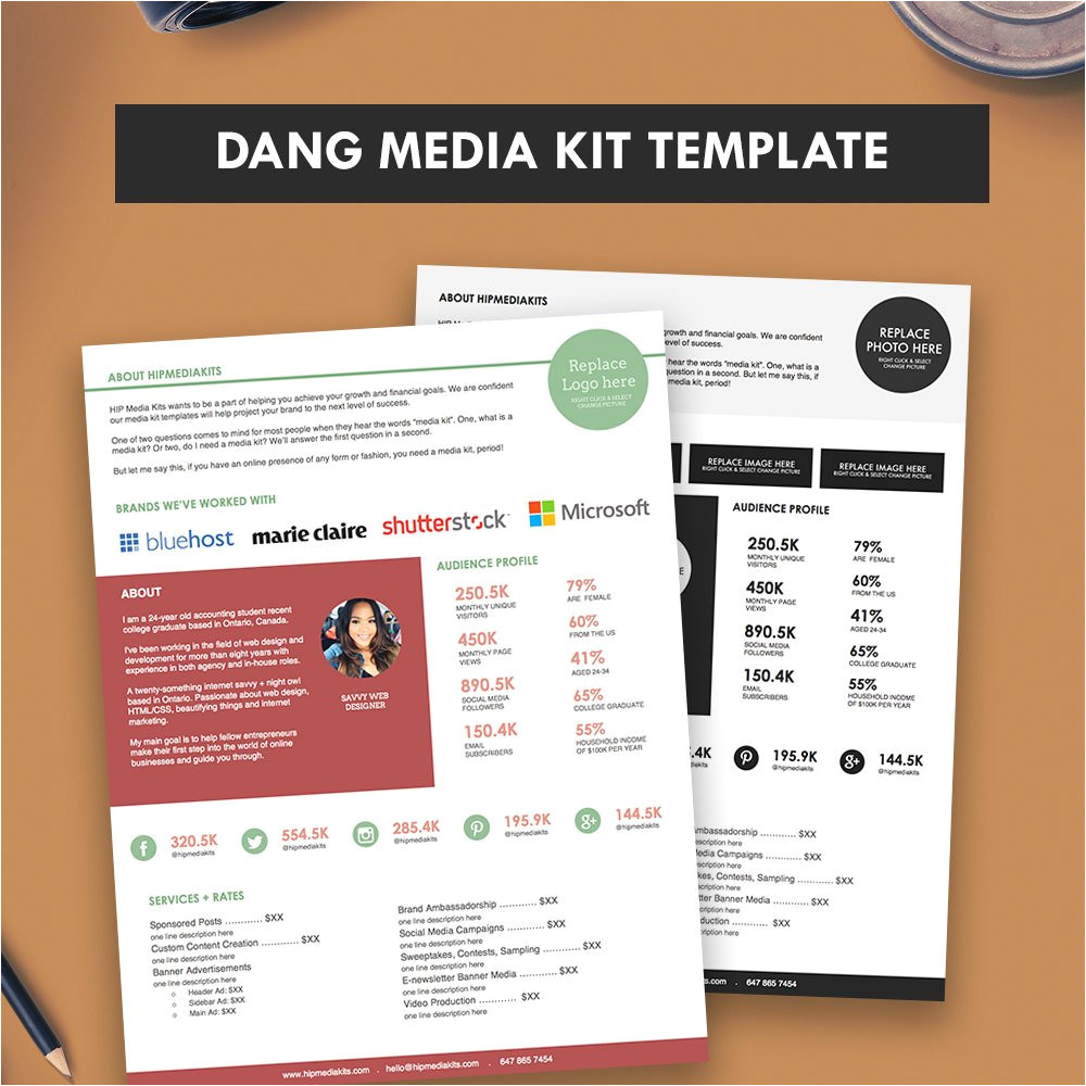 press kit media kit template dang