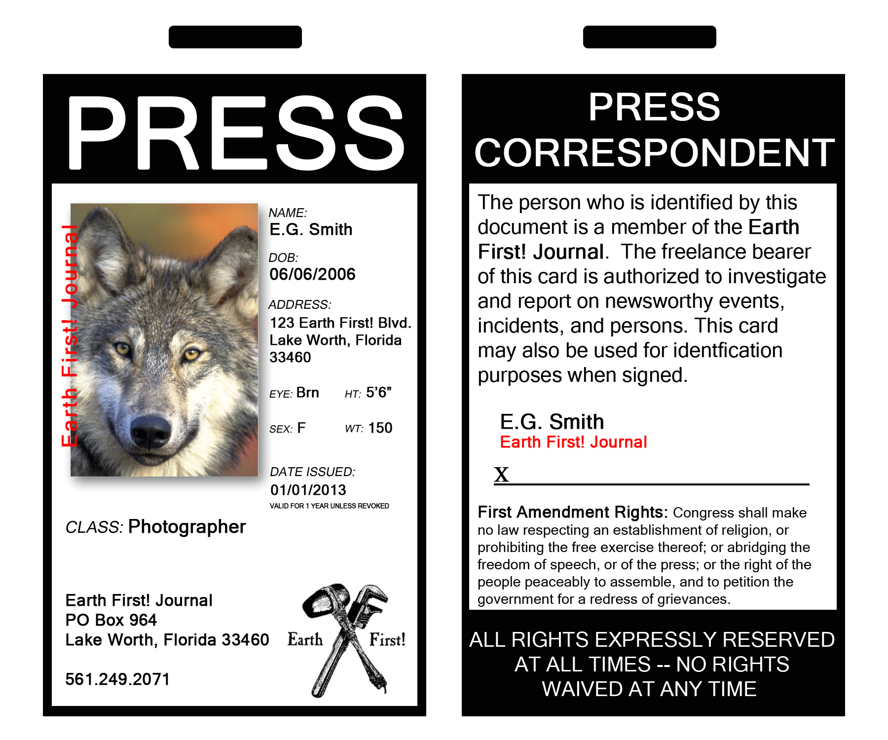 Press Pass Request Template Become An Earth First News Correspondent Earth First