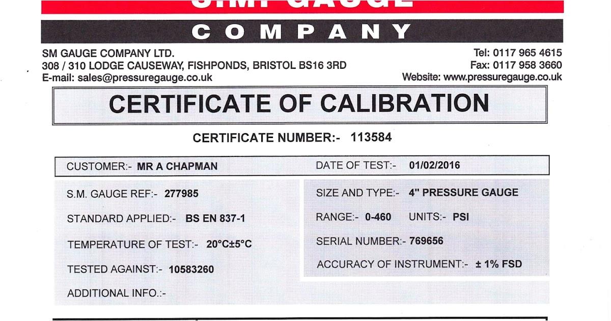 certified gauges