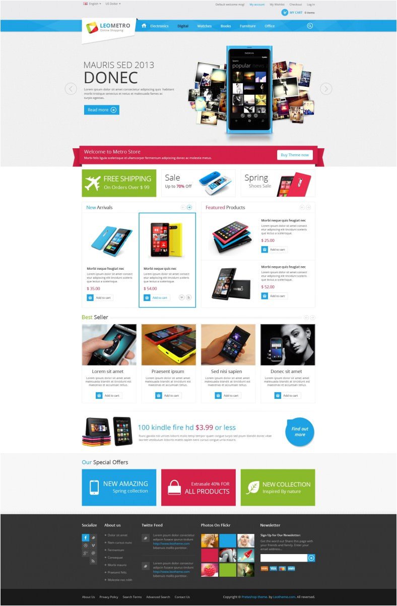 20 best prestashop electronic templates