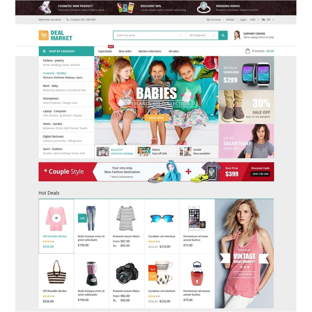 20286 dealmarket fashion store responsive prestashop theme