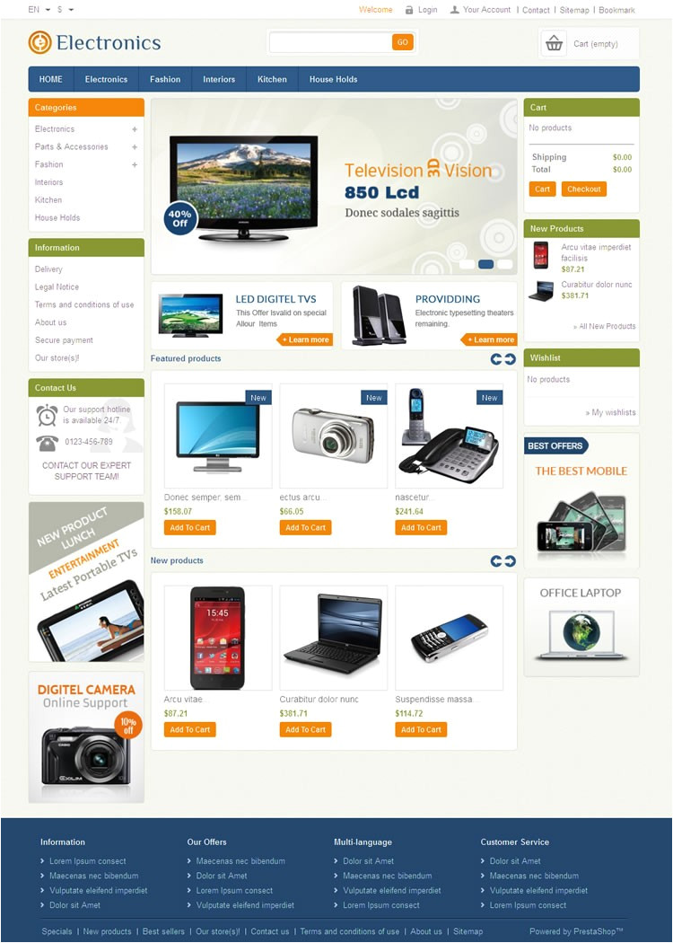 electronics prestashop theme