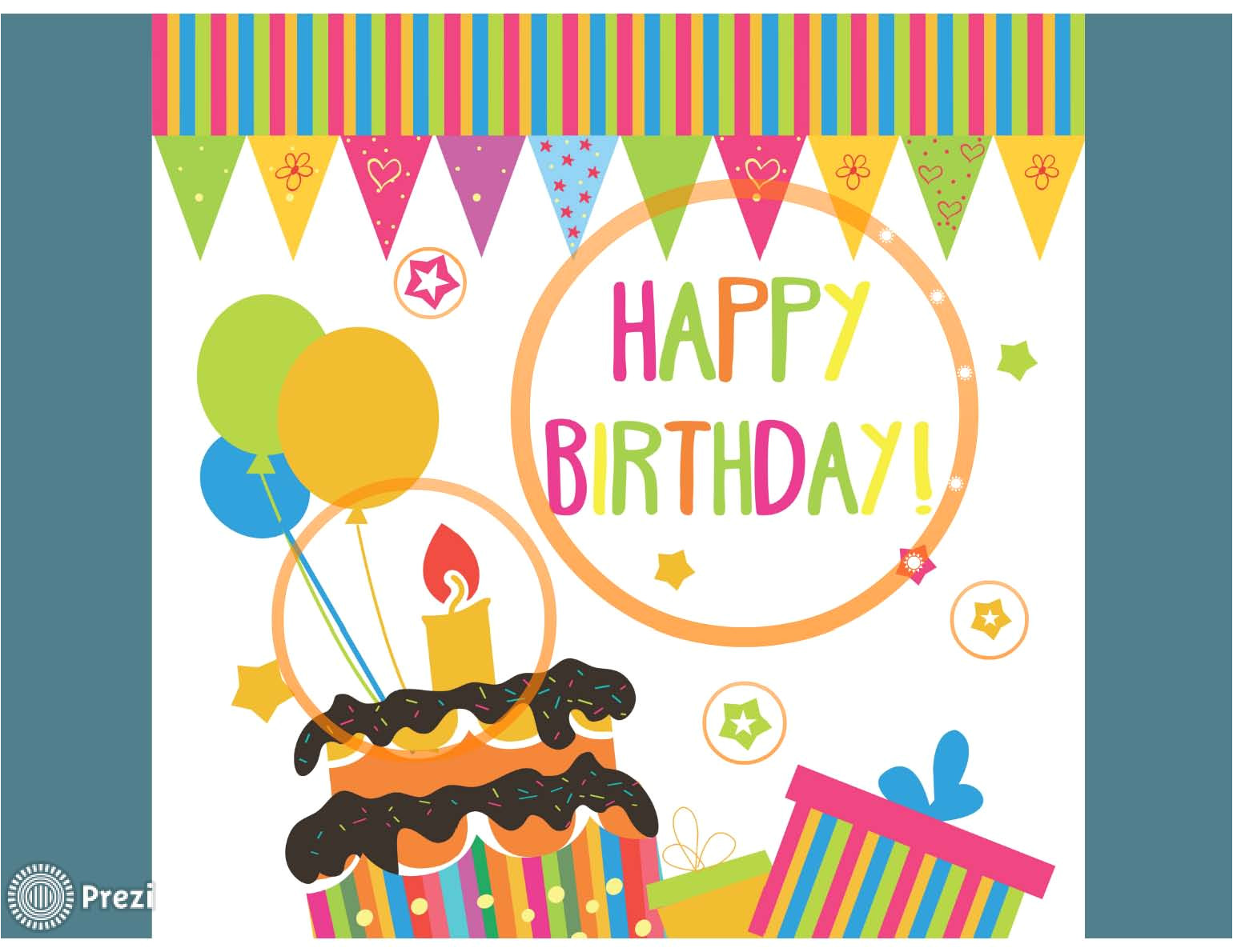 Prezi Birthday Template Happy Birthday 4 Prezi Premium Templates