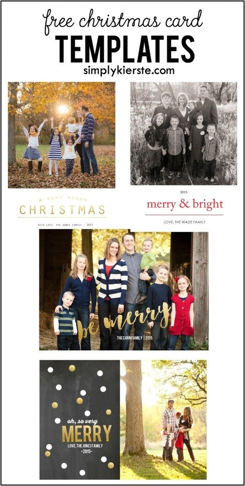 make your own christmas cards free templates