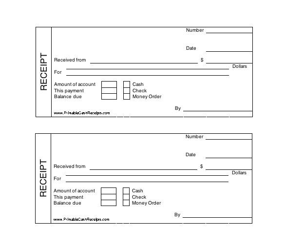 receipt template