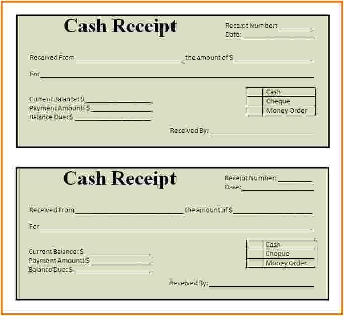 7 printable receipts
